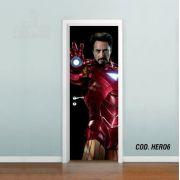 Adesivo De Porta Homem De Ferro Stark mod01