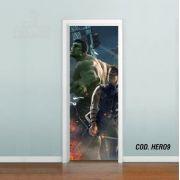 Adesivo De Porta Gavião Arqueiro Hulk