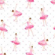 Papel De Parede Adesivo Bailarina Rosa #02