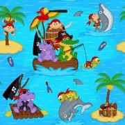 Papel De Parede Adesivo Menino Piratas mod01