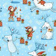 Papel De Parede Adesivo Natal #01