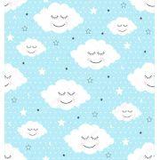 Papel De Parede Adesivo Nuvens Chuva Nuvem mod03