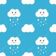 Papel De Parede Adesivo Nuvens Chuva Nuvem mod04