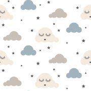 Papel De Parede Adesivo Nuvens Chuva Nuvem mod05