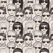 Papel De Parede Adesivo Pessoas Óculos de Sol