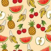 Papel De Parede Adesivo Tropical Frutas