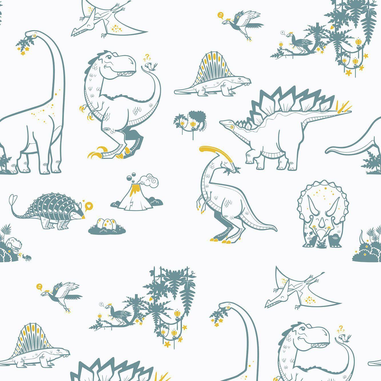 Papel De Parede Adesivo Dinossauros mod05