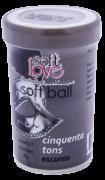 SOFT BALL 50 TONS ESCUROS BOLINHA FUNCIONAL 02 UNIDADES SOFT LOVE