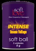 SOFT BALL INTENSE BOLINHA FUNCIONAL 02 UNIDADES SOFT LOVE