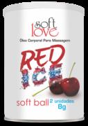 SOFT BALL RED ICE BOLINHA FUNCIONAL 02 UNIDADES SOFT LOVE