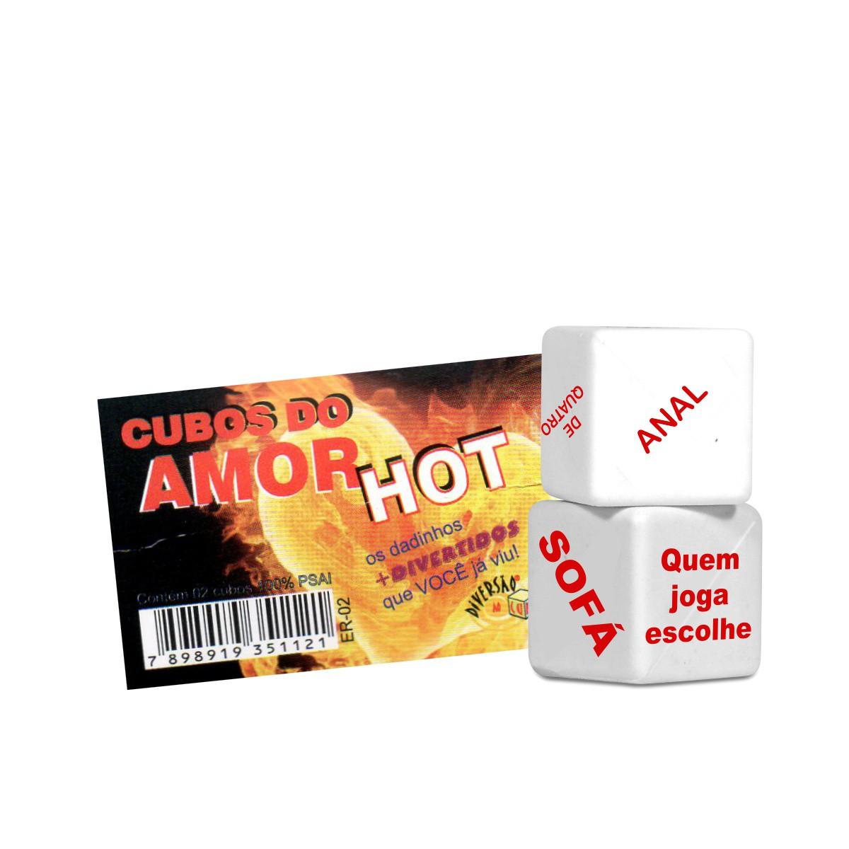 DADOS CUBOS DO AMOR HOT DUPLO DIVERSÃO AO CUBO