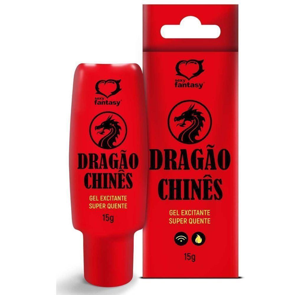 DRAGÃO CHINÊS GEL EXCITANTE SUPER QUENTE UNISSEX 15G SEXY FANTASY