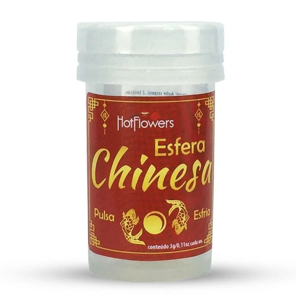 HOT BALL PLUS ESFERA CHINESA SILICONE 2 UNID HOT FLOWERS