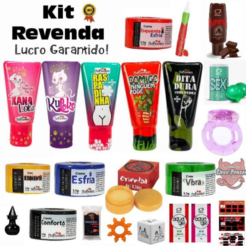 Kit Sex shop 25 Produtos Revenda Doce Prazer Sex Shop Atacado