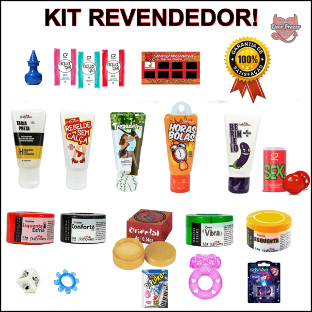 Kit Sexshop 50 Produtos Revenda Doce Prazer Sex Shop Atacado