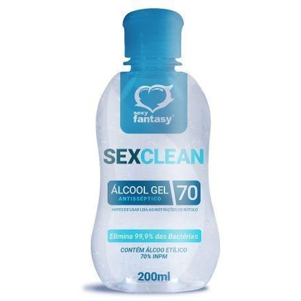 SEX CLEAN ÁLCOOL EM GEL 200ML SEXY FANTASY