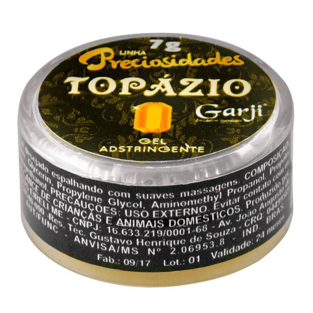 TOPÁZIO ADSTRINGENTE GEL ADSTRINGENTE 7G GARJI