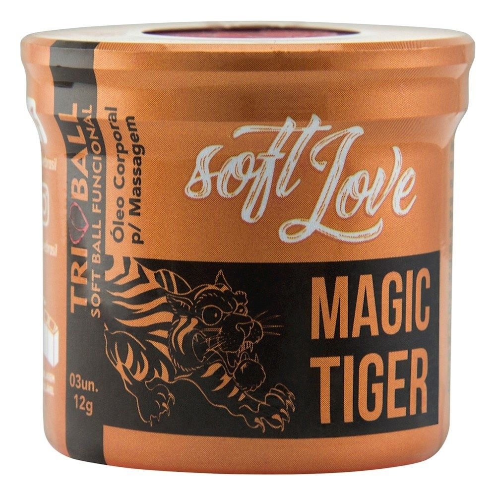 TRIBALL MAGIC TIGER BOLINHA FUNCIONAL 03 UNIDADES SOFT LOVE