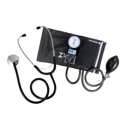 KIT Esfigmomanômetro com Estetoscópio P.A MED