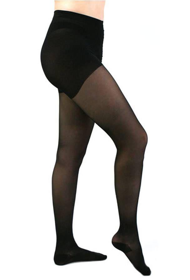 Meia Calça Medi 15-20 mmHg  Mediven Sheer Soft Preta Ponteira Fechada