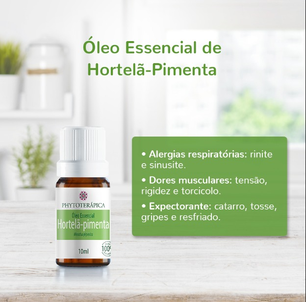 Óleo Essencial de Hortelã-Pimenta Phytoterápica 10ml
