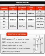 Panturrilha -actitud  15-20 mmhg