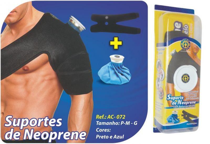 SUPORTE DE NEOPRENE COM BOLSA PARA GELO- ORTHOPAUHER