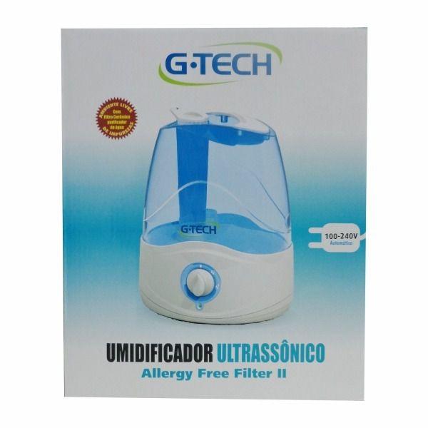 Umidificador Ultra-Sônico Allergy Free Filter 3 Litros - G-Tech