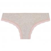 Calcinha anatômica cotton mescla renda rosê