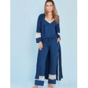 Pijama amamentação 3 peças marinho