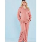 Pijama amamentação viscose rosê
