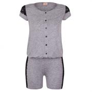 Pijama amamentação macaquinho mescla com renda
