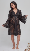 Robe curto renda guipir preto