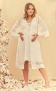 Robe curto tule e renda off white