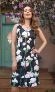 Vestido amamentação em piquet estampa floral