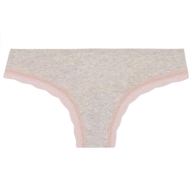 f2ad60d50 Calcinha anatômica cotton mescla renda rosê