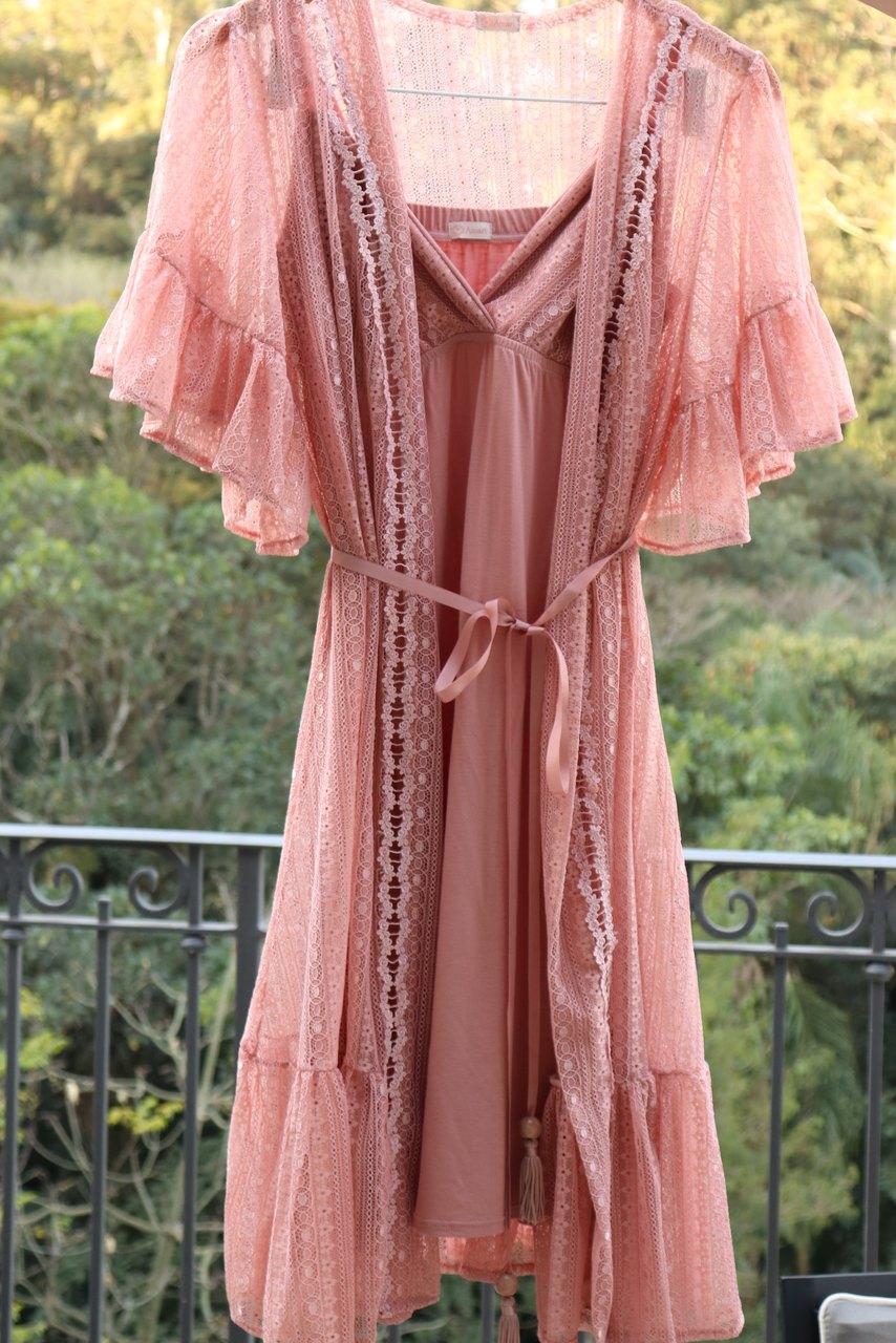 Camisola amamentação curta viscolycra rosê