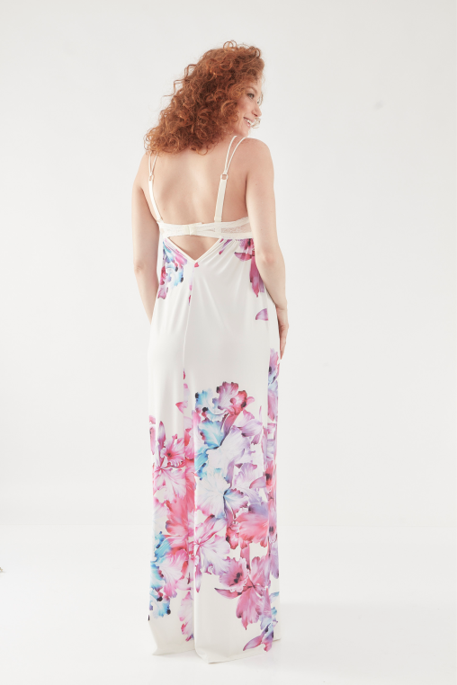 Camisola longa estampa floral