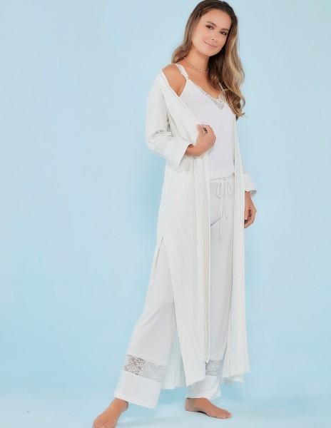 Pijama amamentação 3 peças Off White