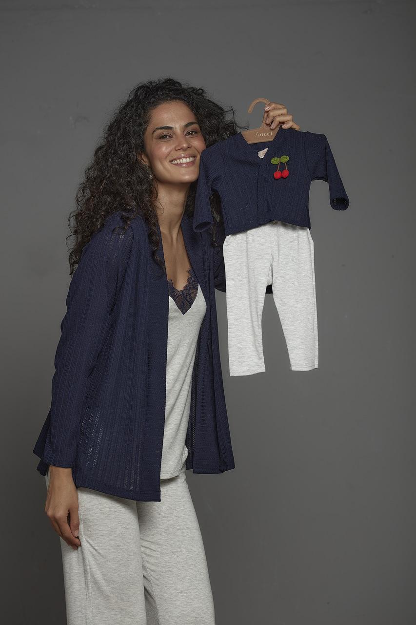 Pijama amamentação mãe e filho (a) 5 peças