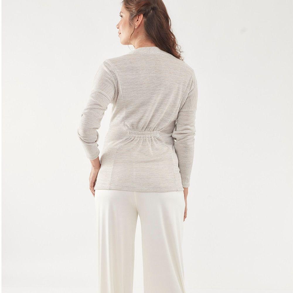 Pijama amamentação casaco tricot