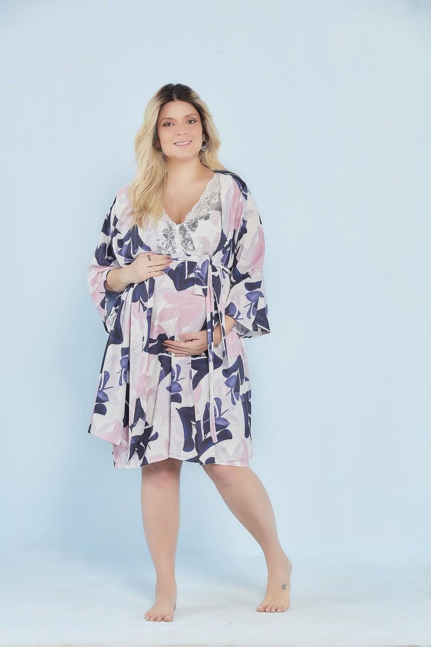 Robe curto estampa floral Marinho