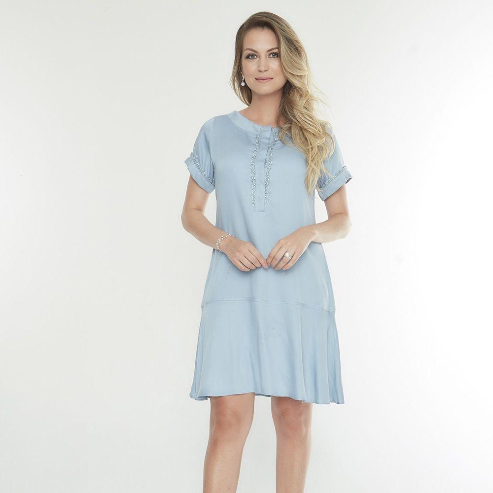 203d607b5 Vestido amamentação azul