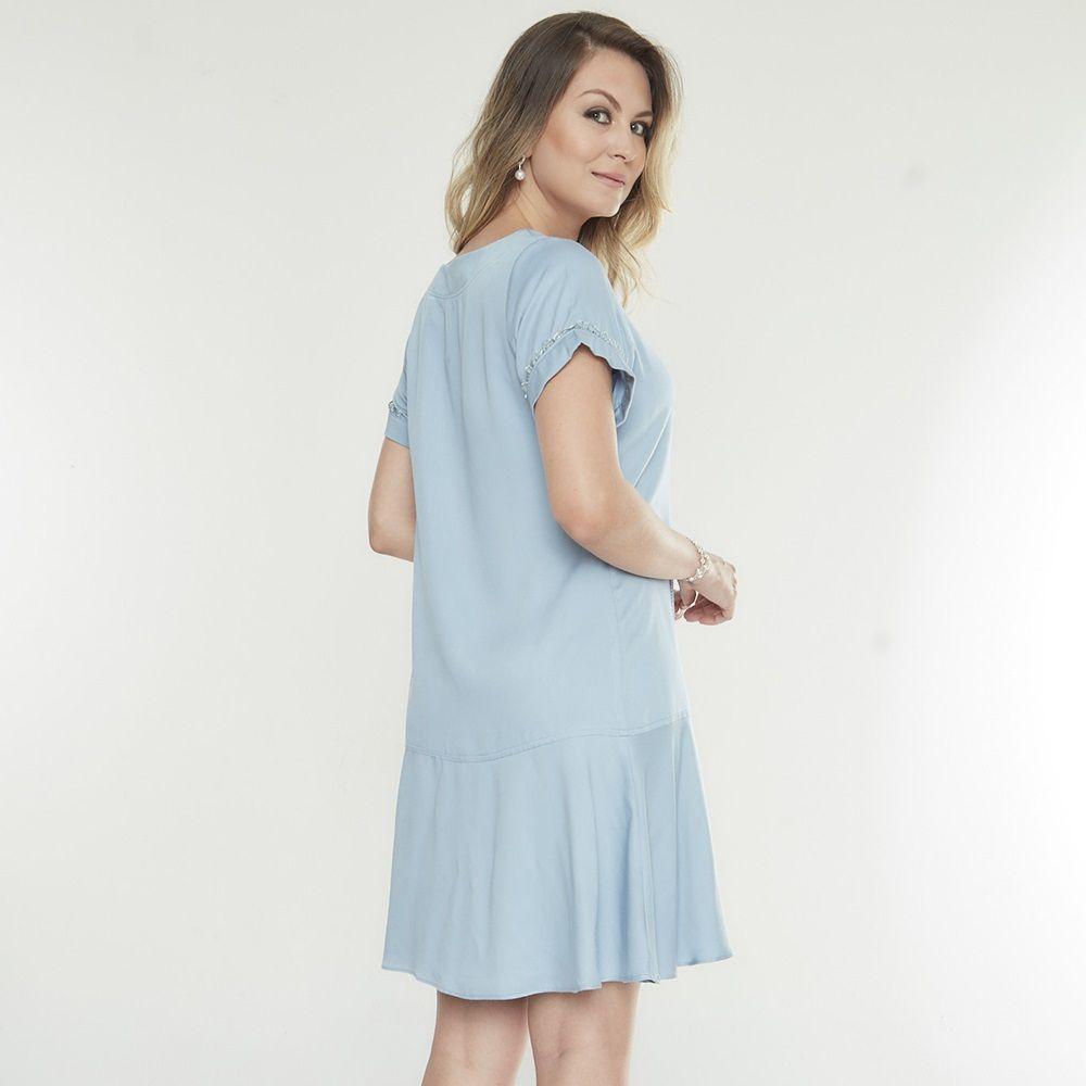 Vestido amamentação azul