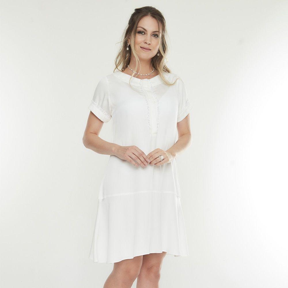 Vestido amamentação branco