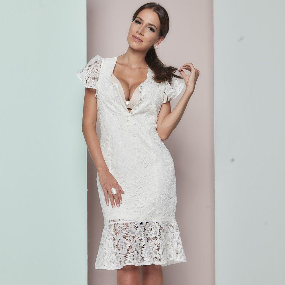 b74c40889 ... Vestido amamentação renda off white · Image description · Image  description ...