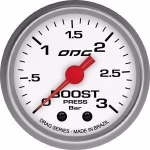 Manômetro Odg Drag Boost 3 Bar 52 Mm Pressão De Turbo