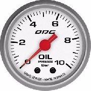 Manômetro Odg Drag Pressão De Óleo Oil 10 Bar 52 Mm