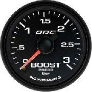 Manômetro Odg Dakar Boost 3 Bar Full Color 52mm