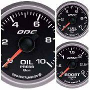 Trio Kit 3 Manômetros Odg Evolution Full Color Combustível Óleo Turbo